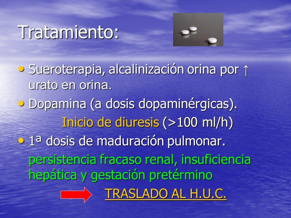 Inicio de diuresis (>100 ml/h)