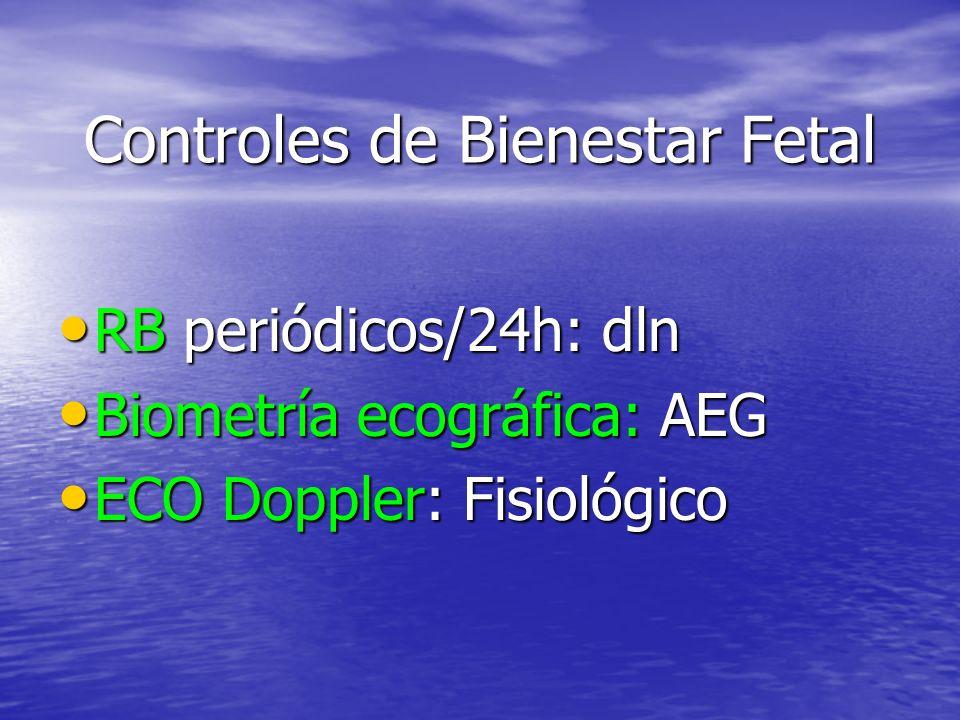 Controles de Bienestar Fetal
