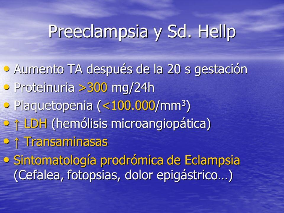 Preeclampsia y Sd. Hellp