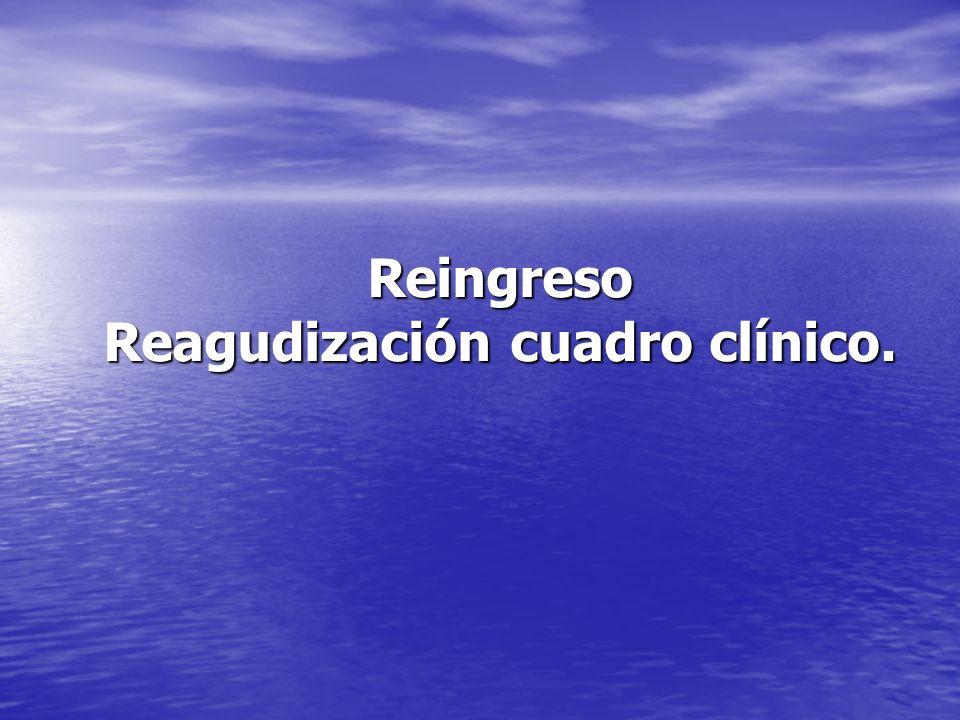 Reingreso Reagudización cuadro clínico.