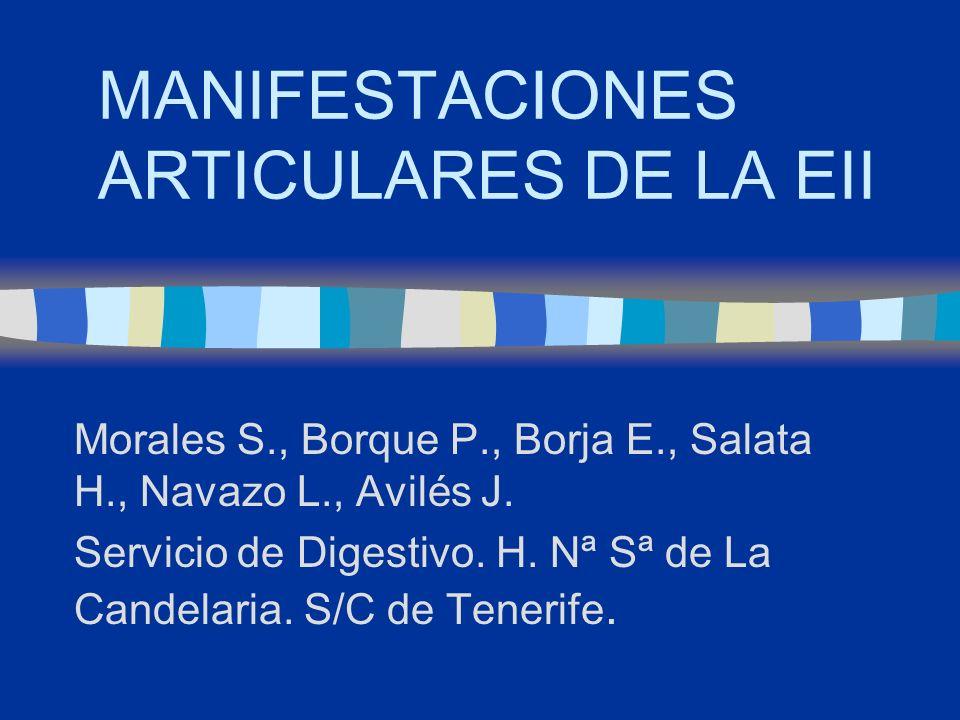 MANIFESTACIONES ARTICULARES DE LA EII