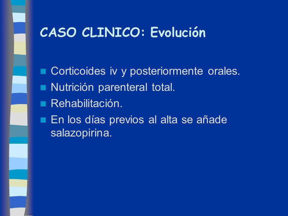 CASO CLINICO: Evolución