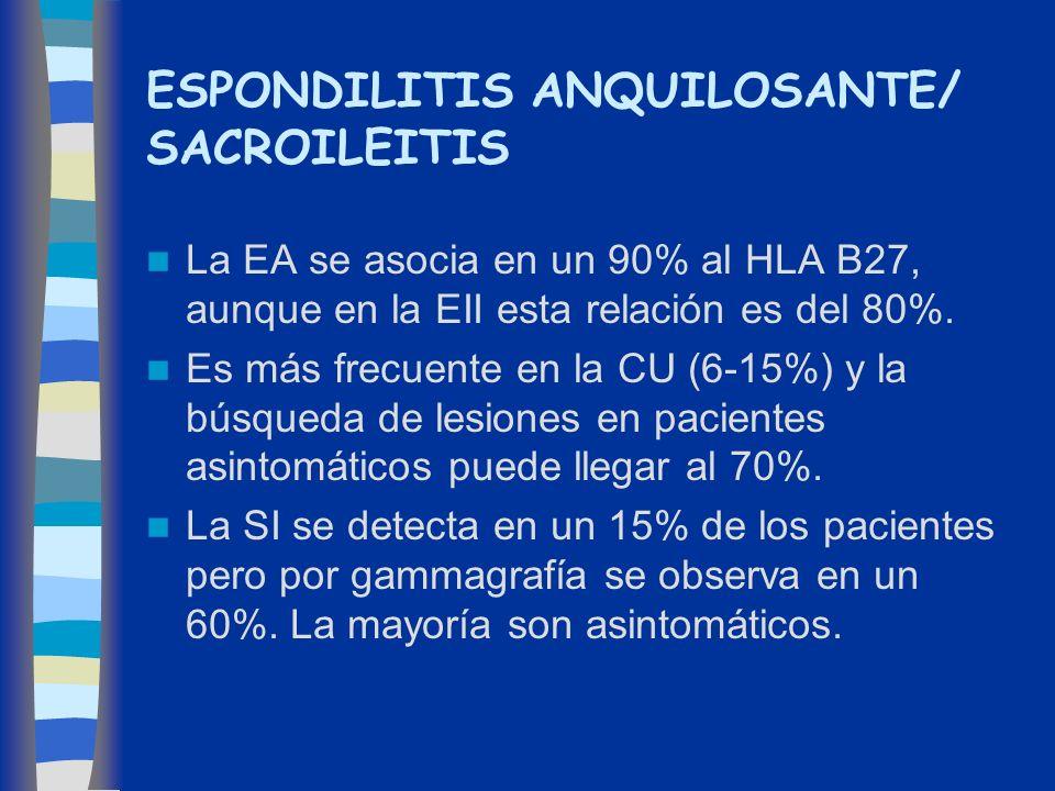 ESPONDILITIS ANQUILOSANTE/ SACROILEITIS