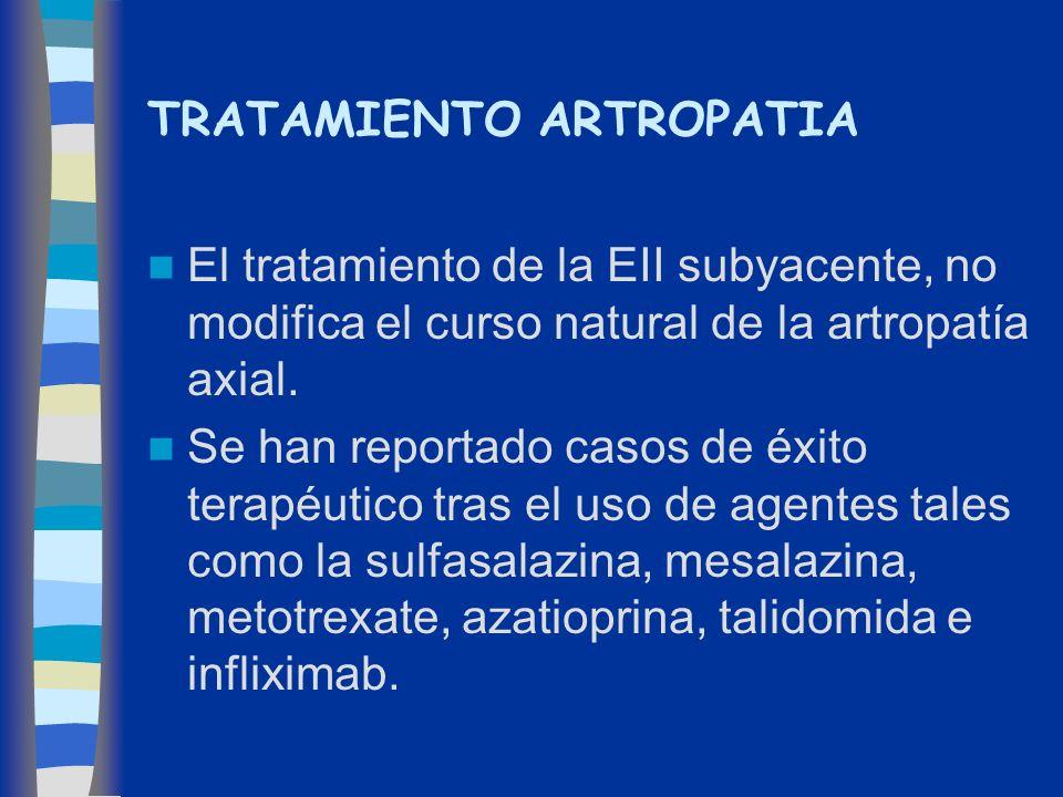 TRATAMIENTO ARTROPATIA