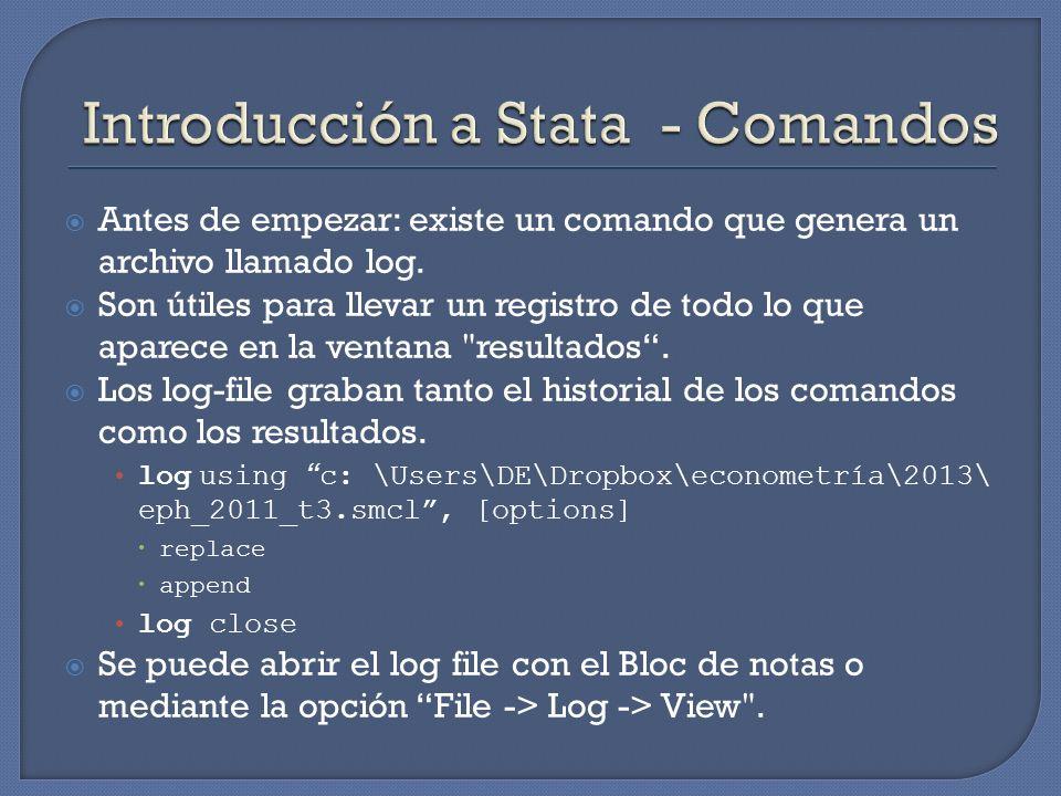 Introducción a Stata - Comandos