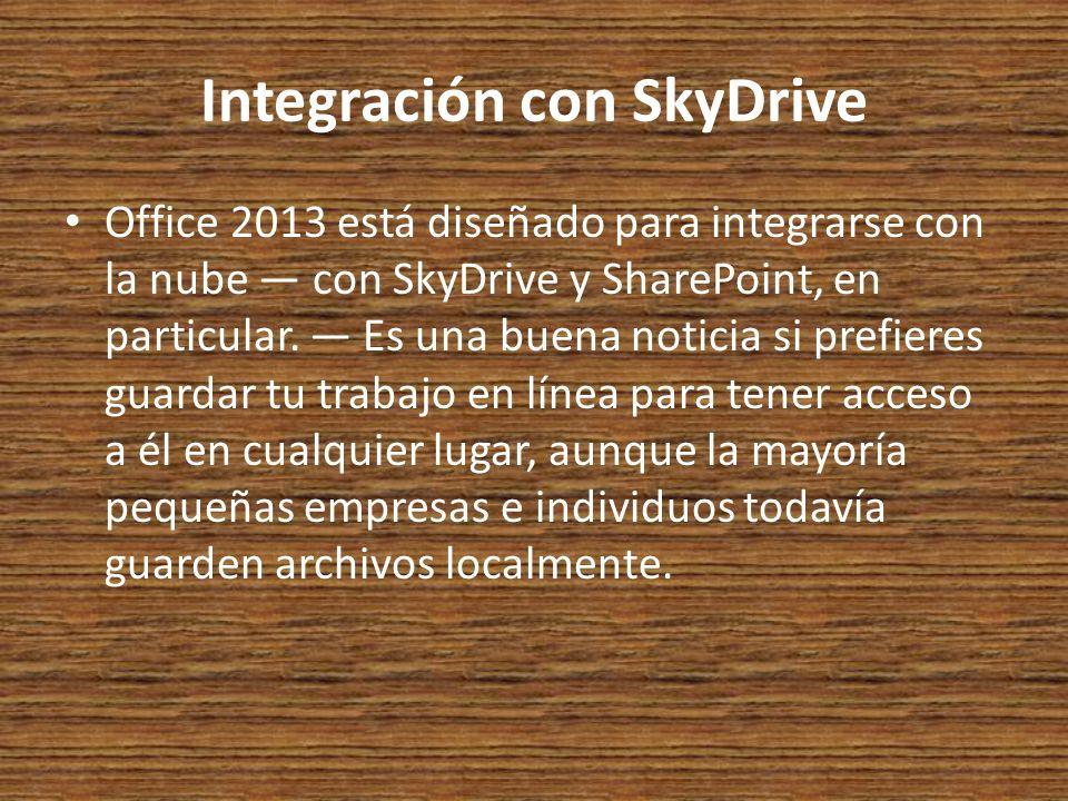 Integración con SkyDrive