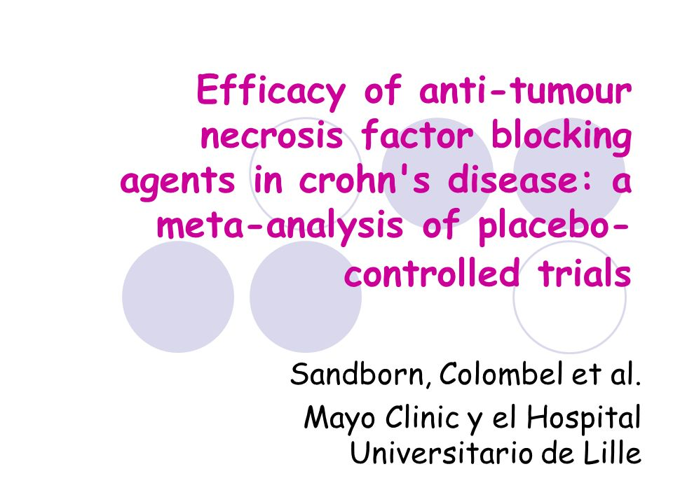 Efficacy of anti-tumour necrosis factor blocking agents in crohn s disease: a meta-analysis of placebo-controlled trials