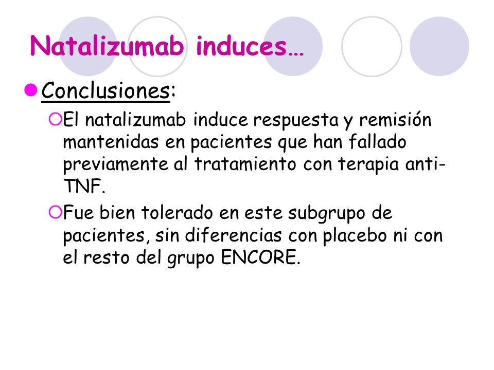 Natalizumab induces… Conclusiones: