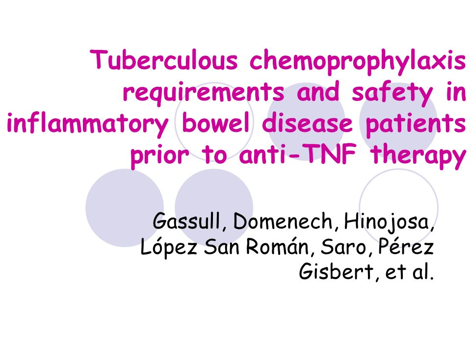 Tuberculous chemoprophylaxis requirements and safety in inflammatory bowel disease patients prior to anti-TNF therapy