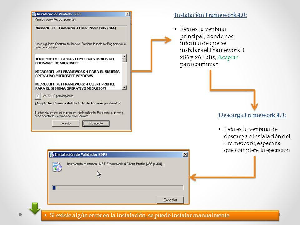 Instalación Framework 4.0: