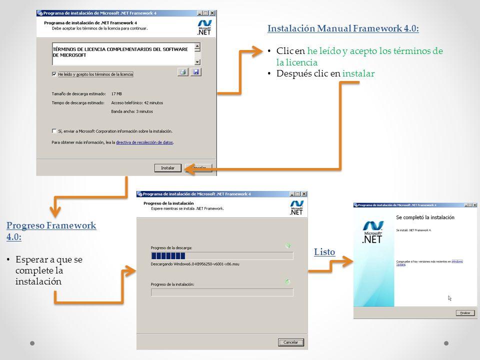 Instalación Manual Framework 4.0: