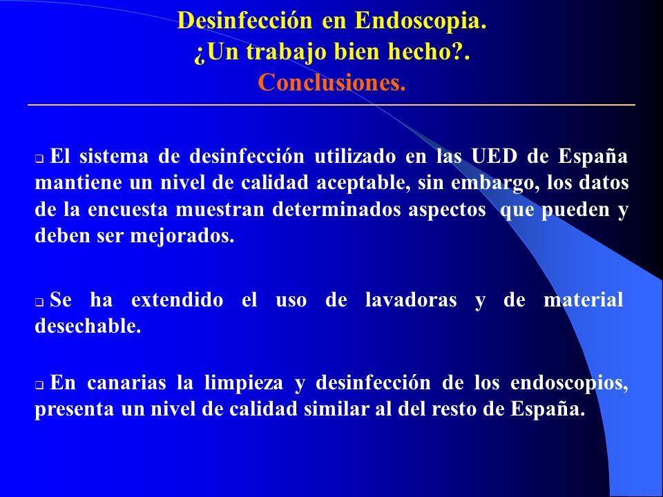 Desinfección en Endoscopia.