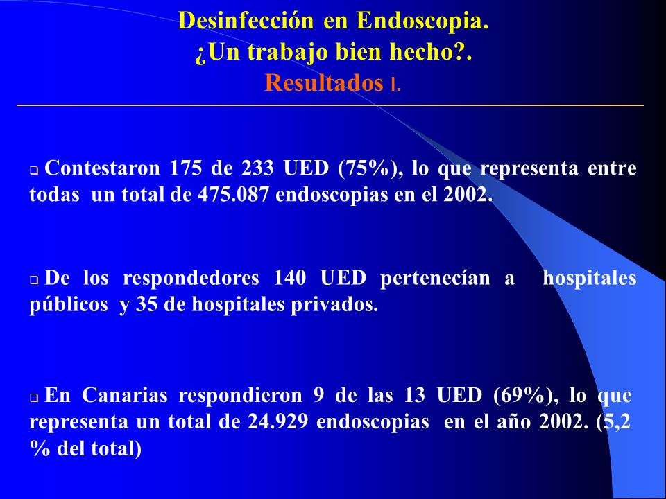 Desinfección en Endoscopia.
