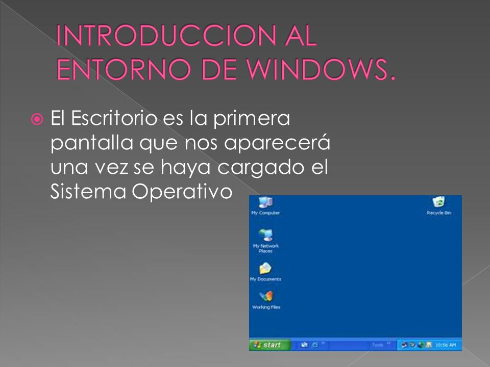 INTRODUCCION AL ENTORNO DE WINDOWS.