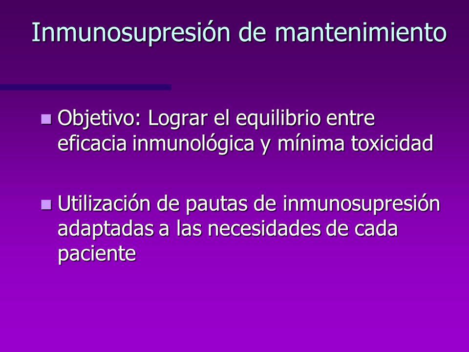 Inmunosupresión de mantenimiento