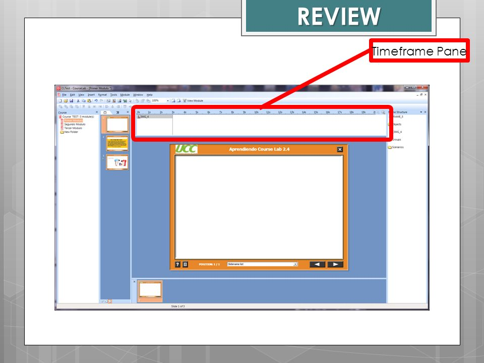 REVIEW Timeframe Pane Course Lab Window