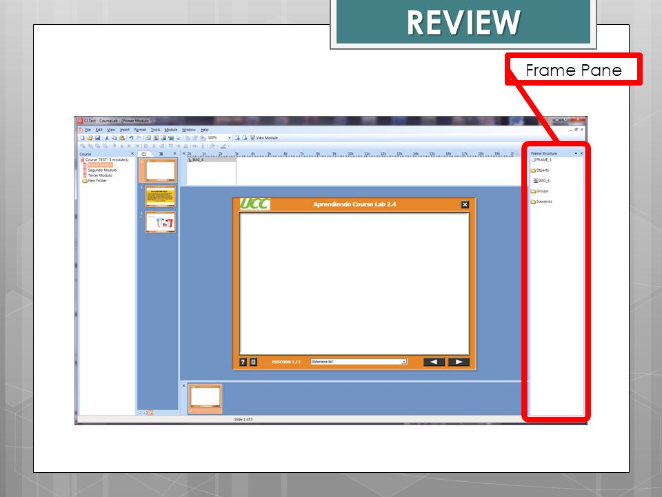 REVIEW Frame Pane Course Lab Window