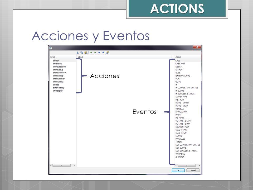 ACTIONS Acciones y Eventos Acciones Eventos