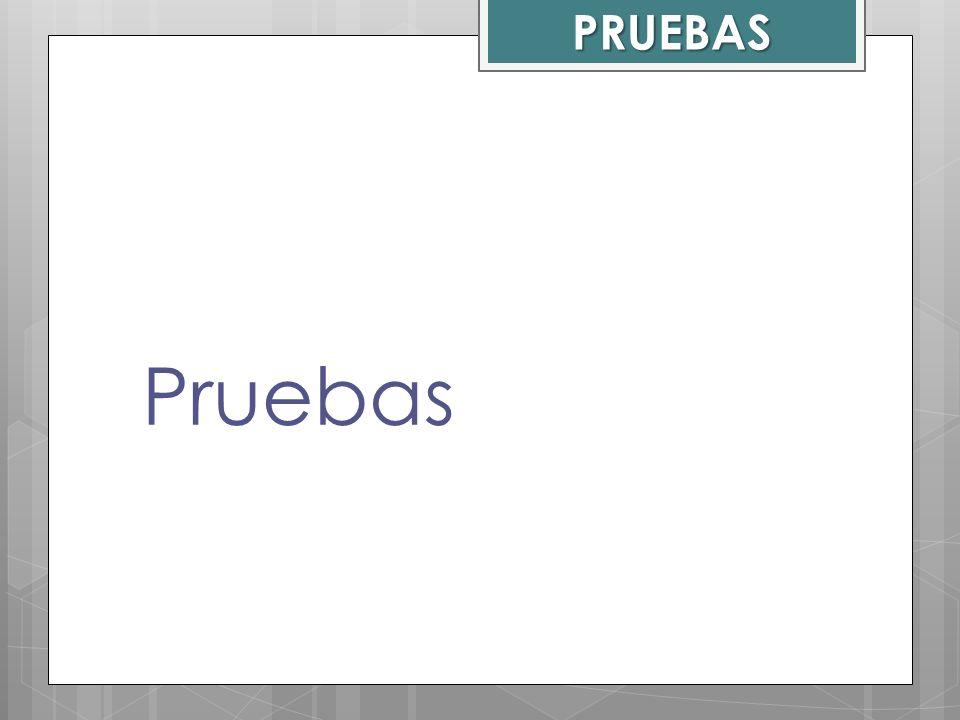 PRUEBAS Pruebas