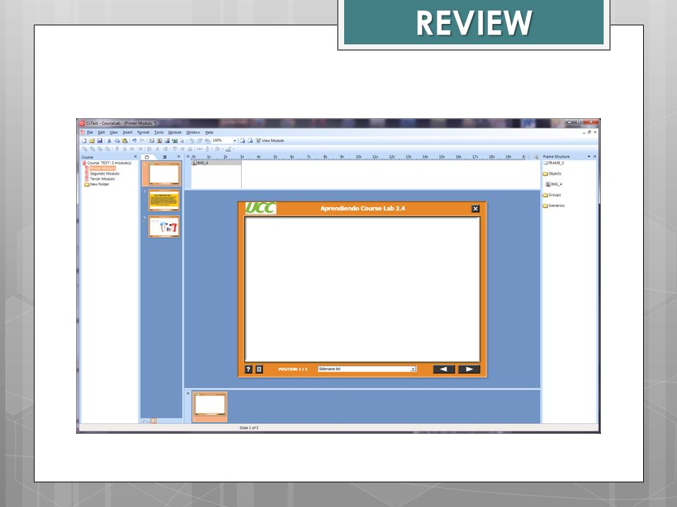 REVIEW Course Lab Window
