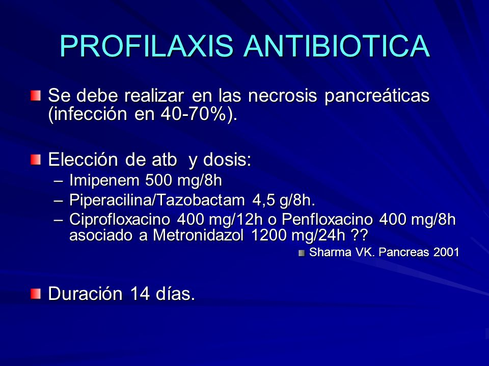 PROFILAXIS ANTIBIOTICA