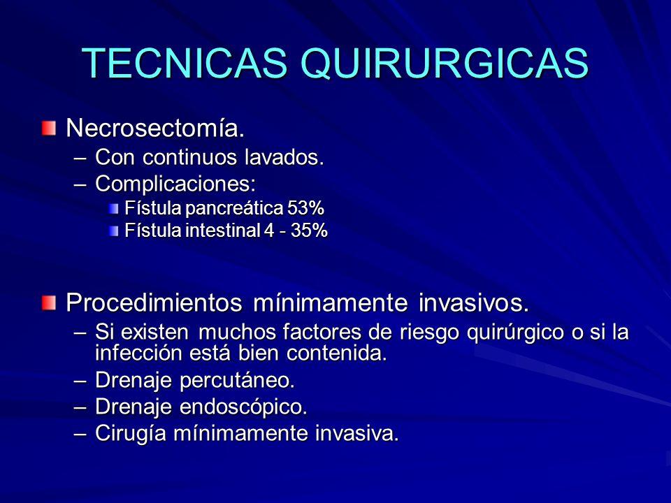TECNICAS QUIRURGICAS Necrosectomía.