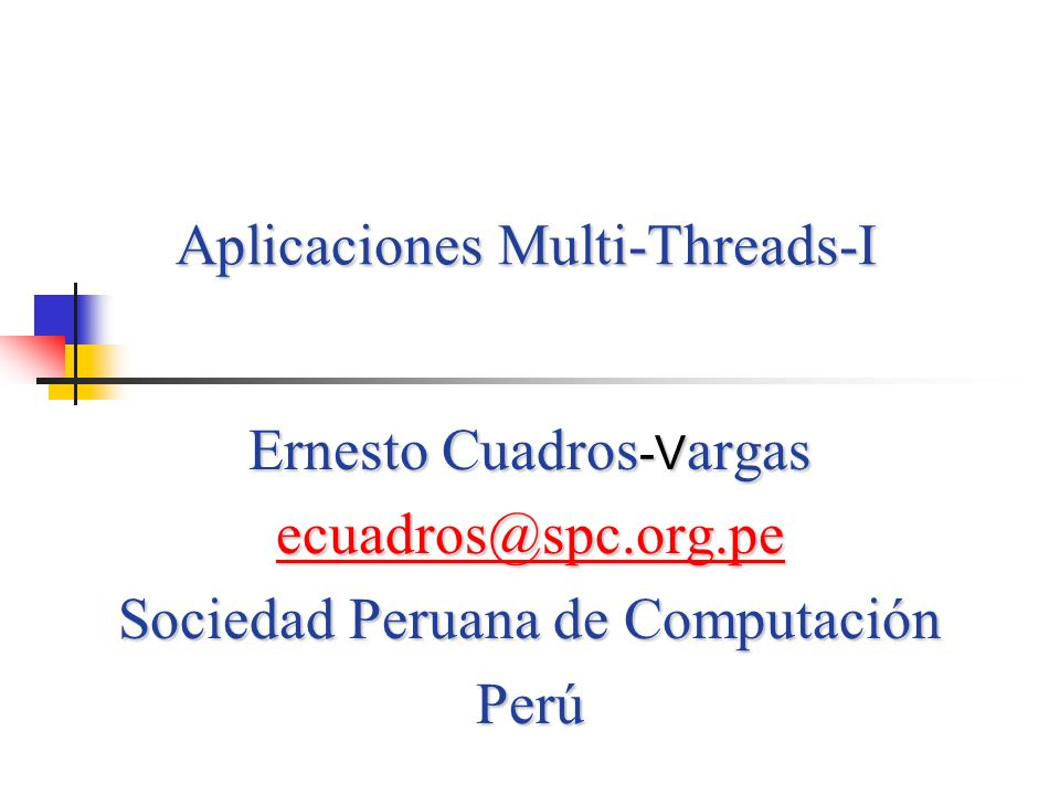 Aplicaciones Multi-Threads-I