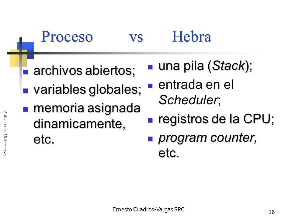 Aplicaciones Multi-Hebras