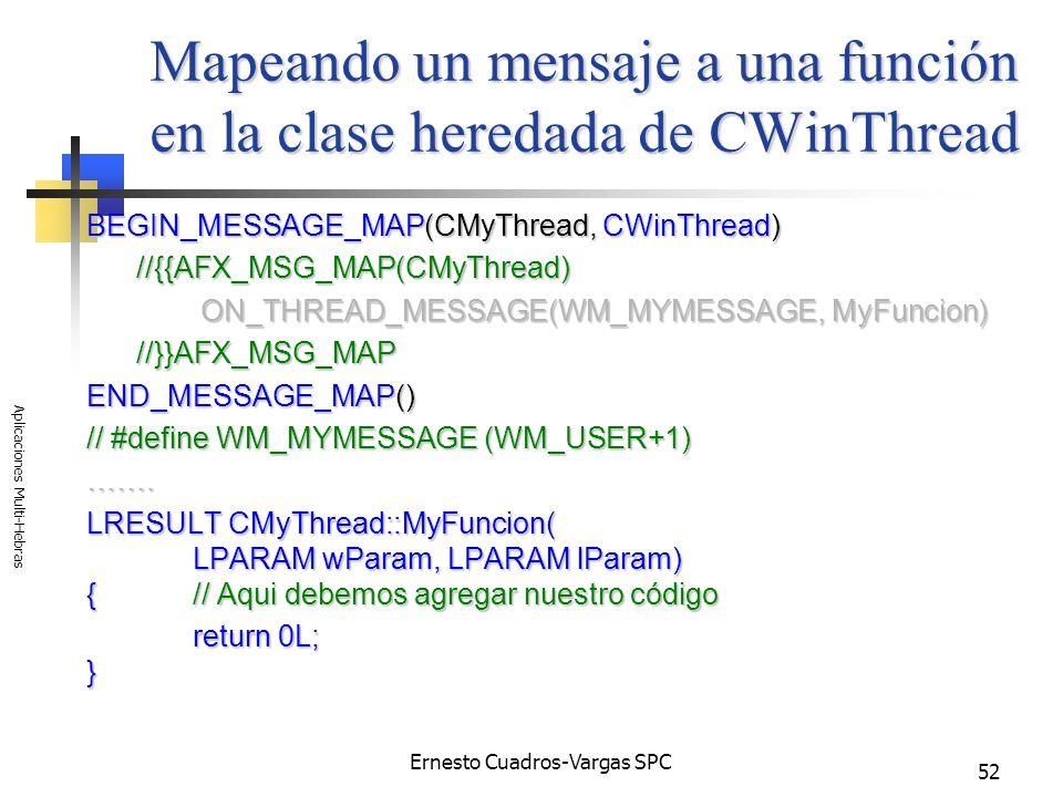 Mapeando un mensaje a una función en la clase heredada de CWinThread