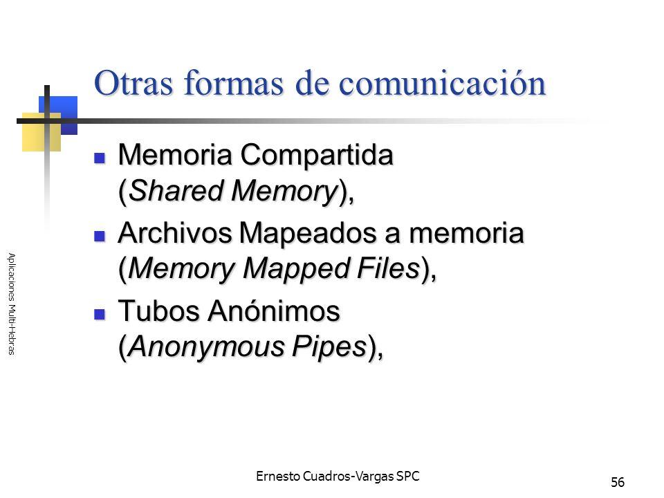 Otras formas de comunicación