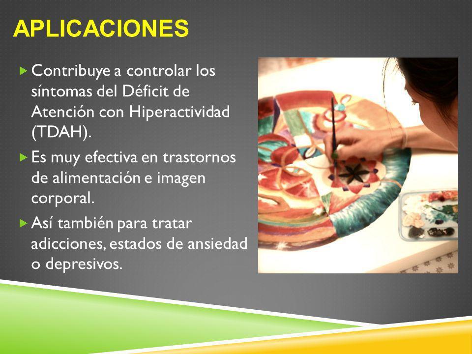Aplicaciones Contribuye a controlar los síntomas del Déficit de Atención con Hiperactividad (TDAH).