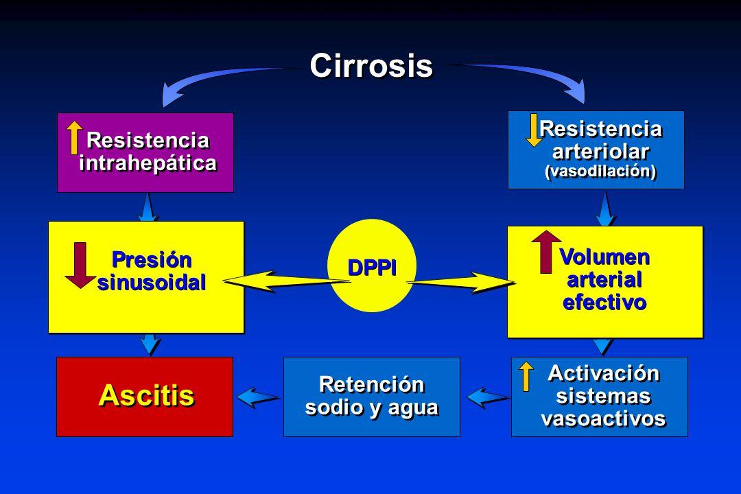 Resistencia arteriolar Resistencia intrahepática