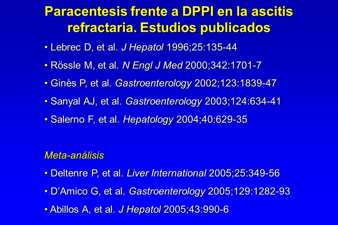 Paracentesis frente a DPPI en la ascitis refractaria