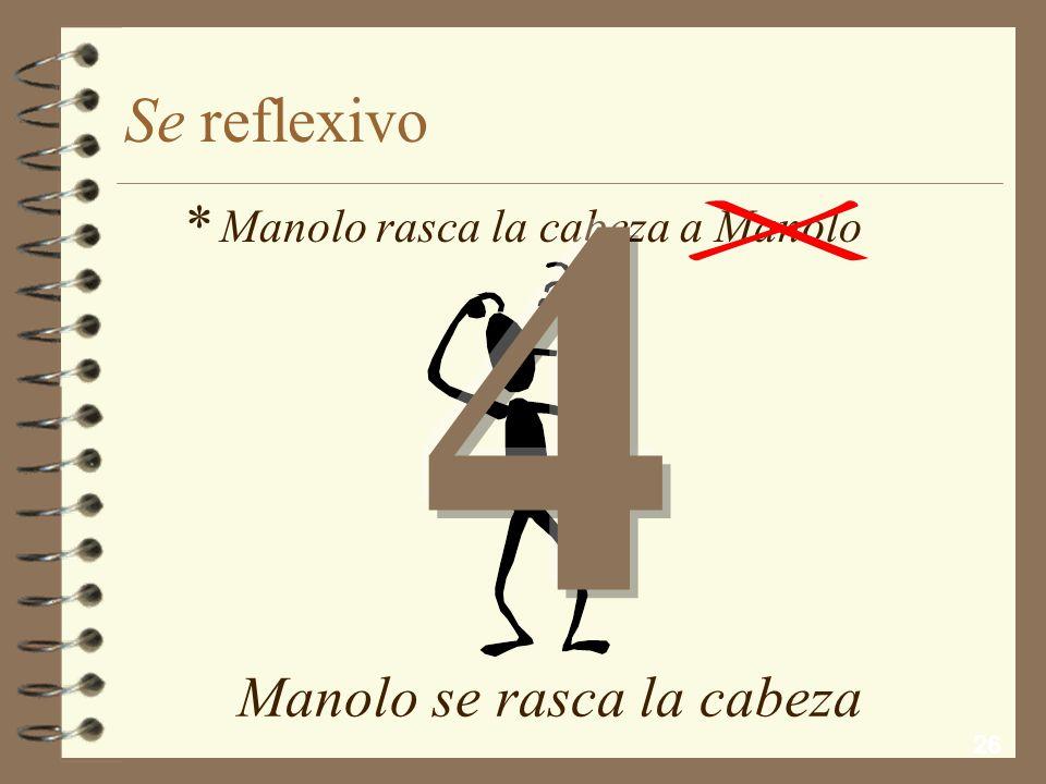 4 Se reflexivo * Manolo se rasca la cabeza