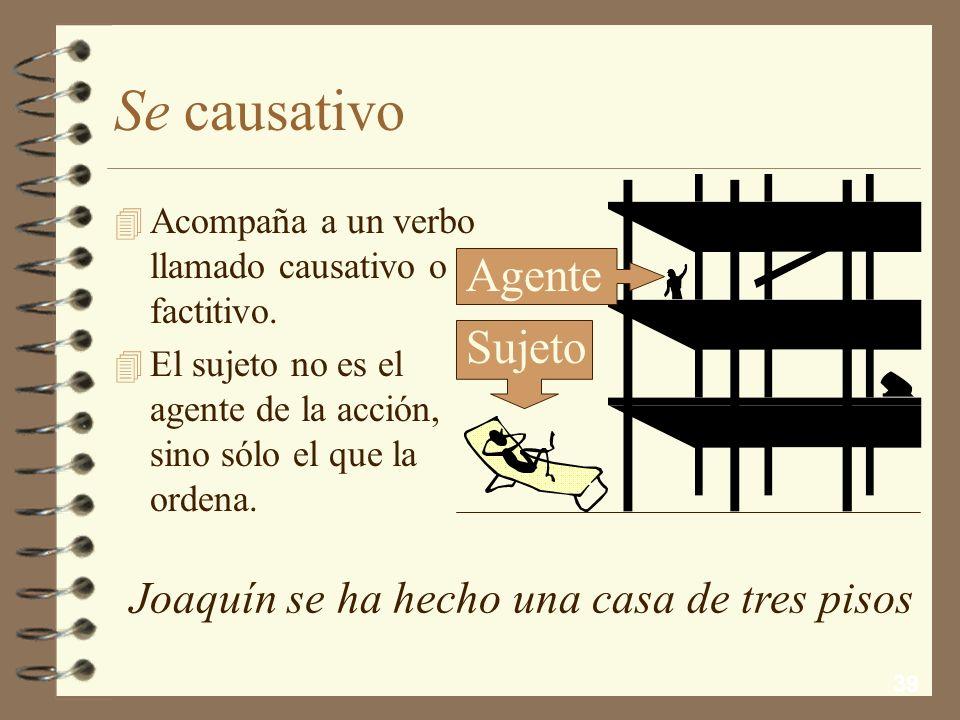 Se causativo Agente Sujeto Joaquín se ha hecho una casa de tres pisos