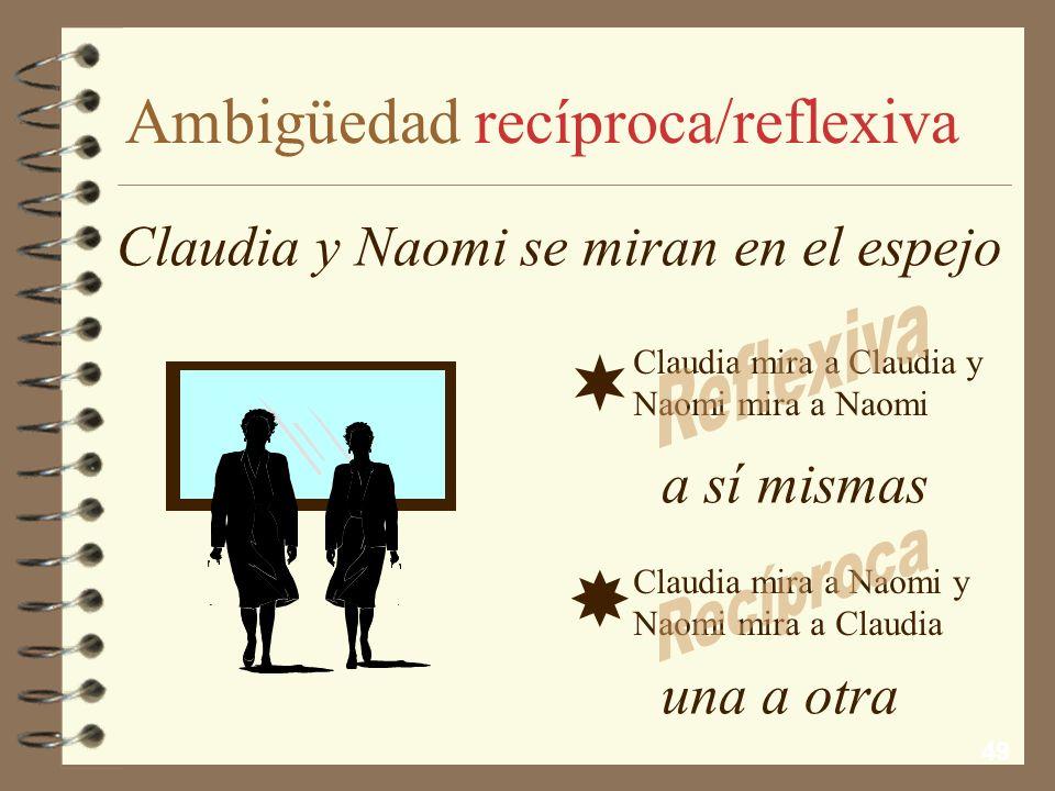 Ambigüedad recíproca/reflexiva