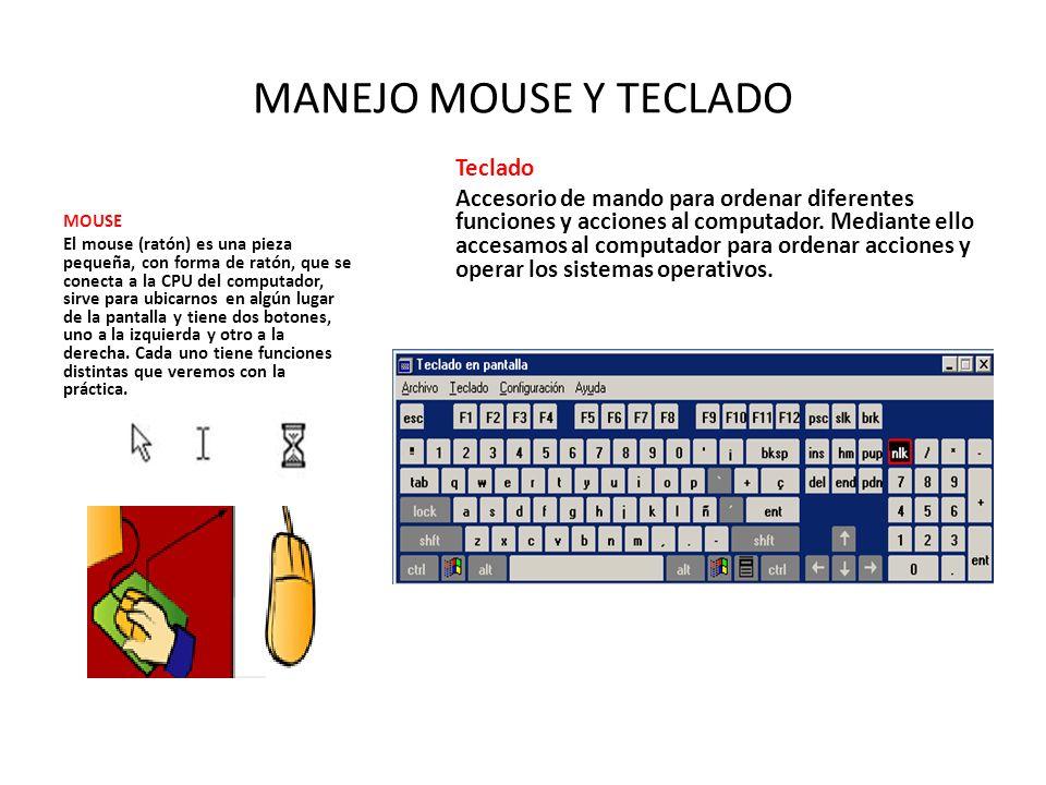 MANEJO MOUSE Y TECLADO Teclado