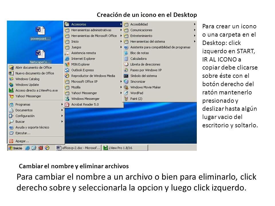 Creación de un icono en el Desktop