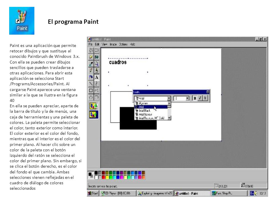 El programa Paint