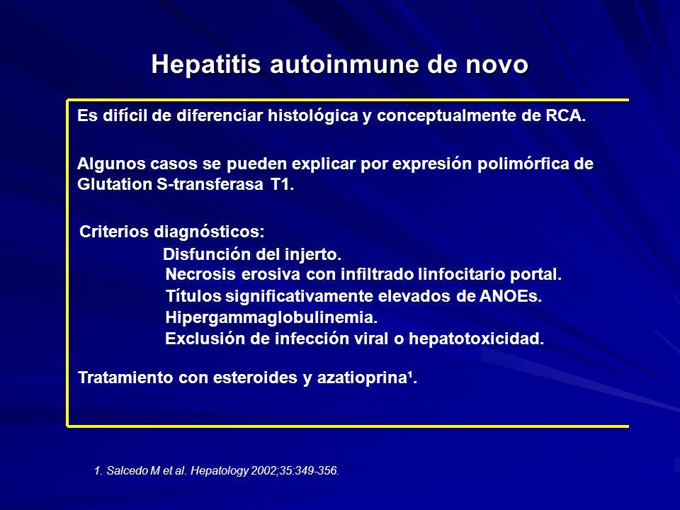 Hepatitis autoinmune de novo