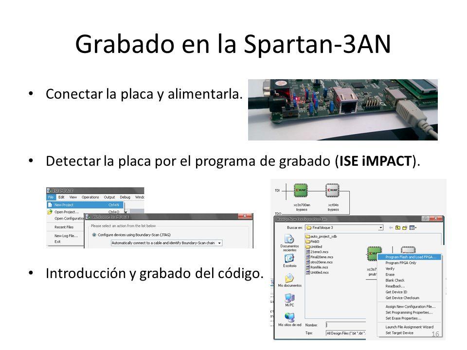 Grabado en la Spartan-3AN
