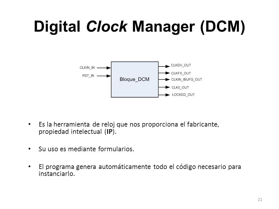 Digital Clock Manager (DCM)