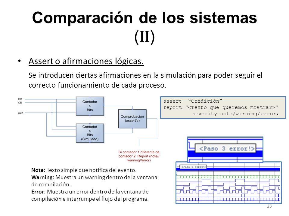 Comparación de los sistemas (II)