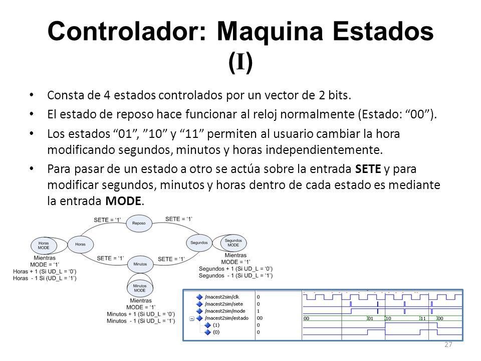 Controlador: Maquina Estados (I)
