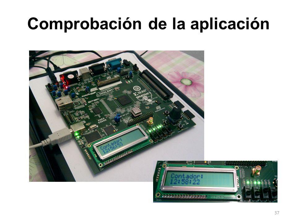 Comprobación de la aplicación