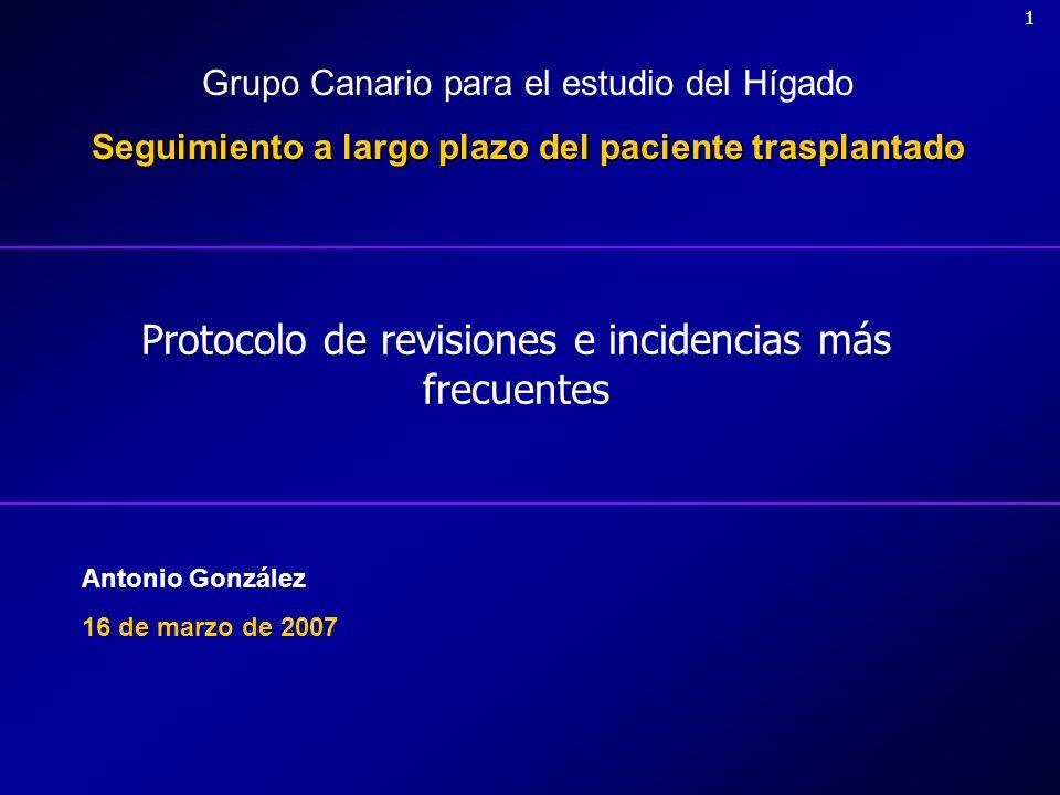 Protocolo de revisiones e incidencias más frecuentes