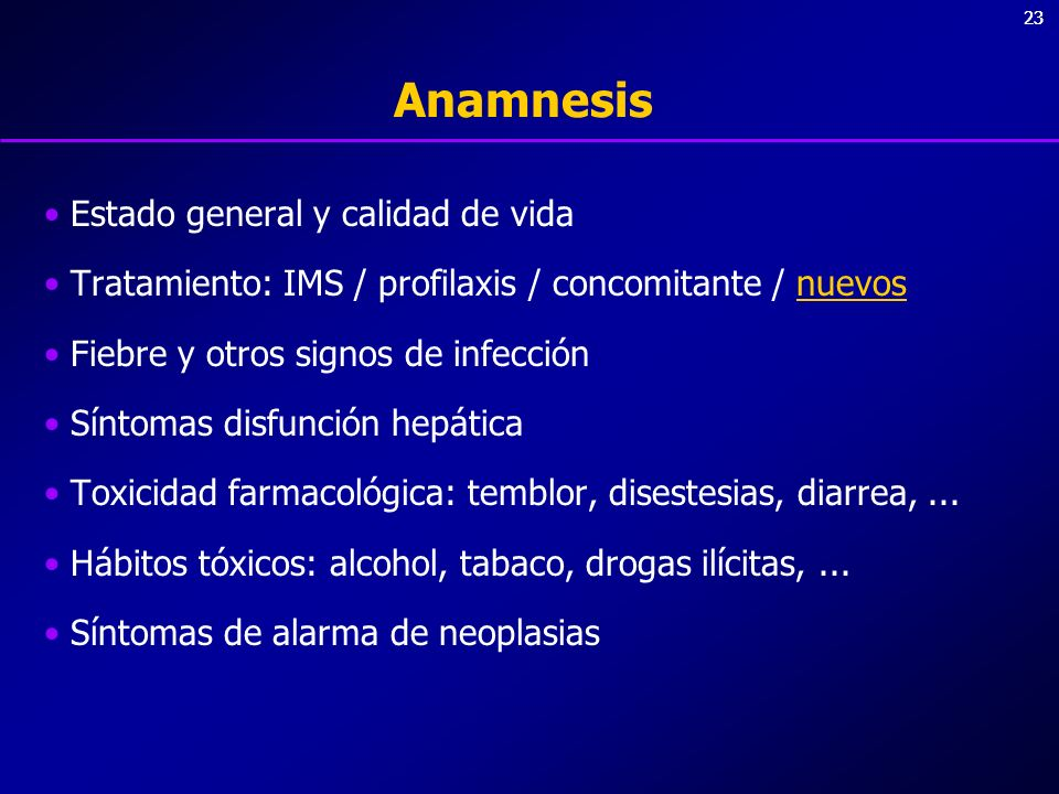 Anamnesis Estado general y calidad de vida