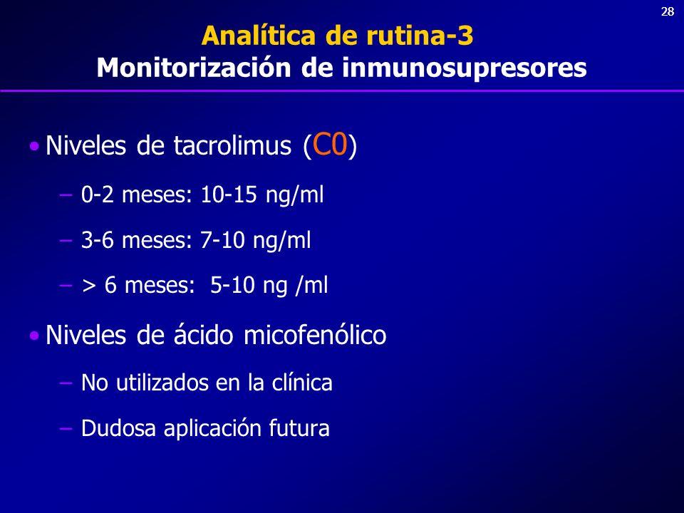Analítica de rutina-3 Monitorización de inmunosupresores