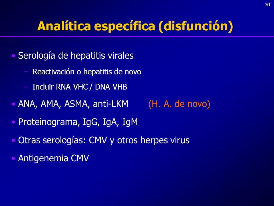 Analítica específica (disfunción)