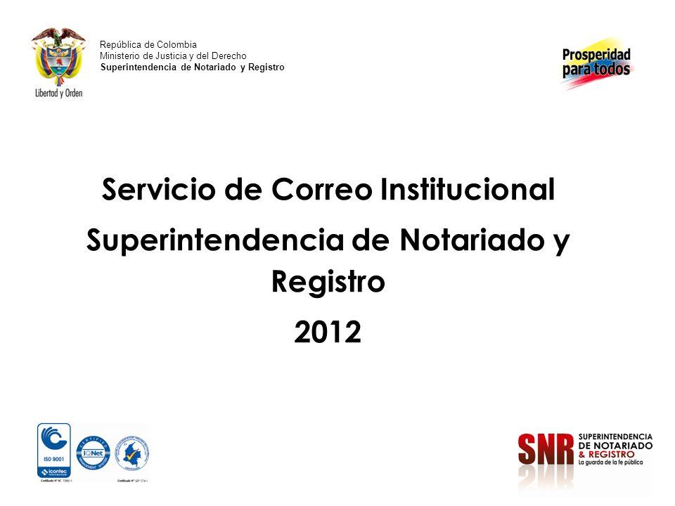 Servicio de Correo Institucional